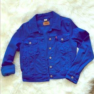 Royal blue jeans jacket